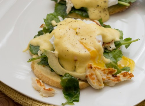 Halloumi Eggs Benedict   Taste and TIpple