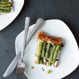 Asparagus & Goat Cheese Tart | Taste and Tipple