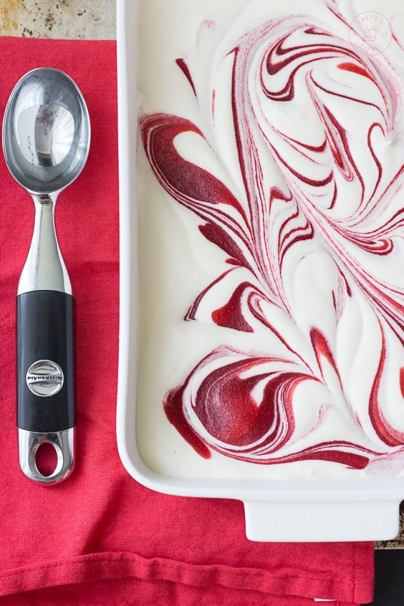 Strawberry Coconut Semifreddo | Taste and Tipple