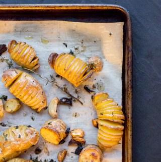 Truffle Parmesan Hasselback Potatoes