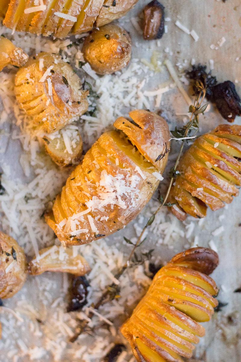 Truffle Parmesan Hasselback Potatoes | Taste and Tipple