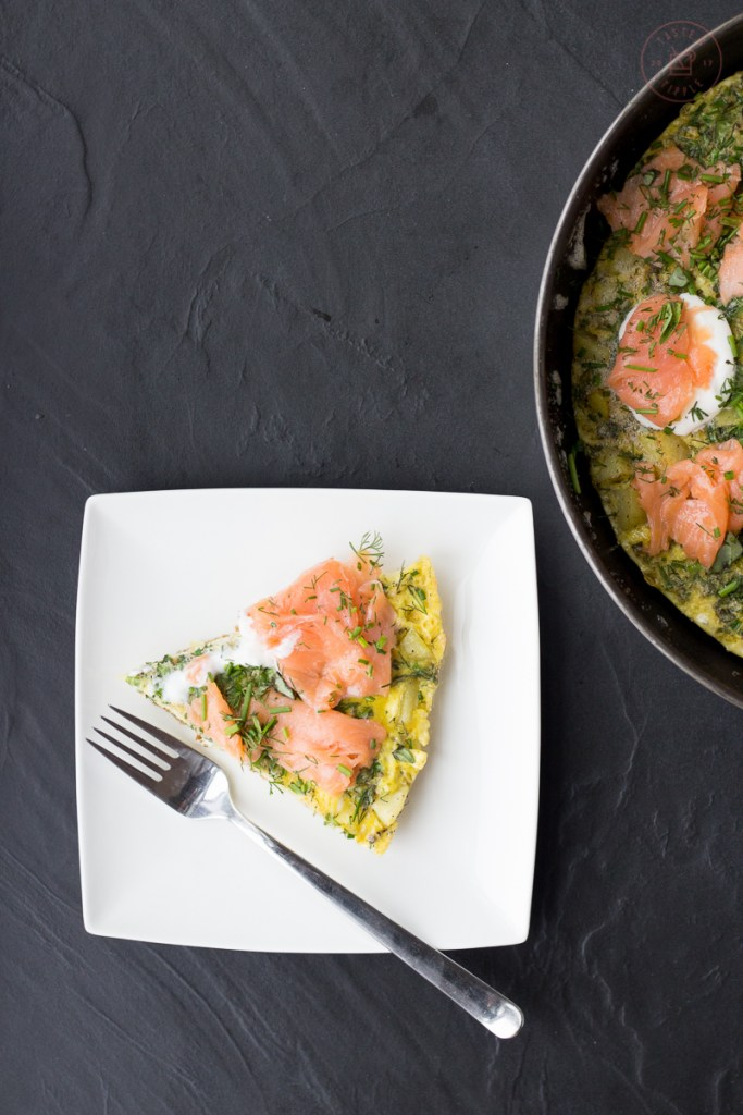 Herbed Salmon and Potato Frittata | Taste and Tipple