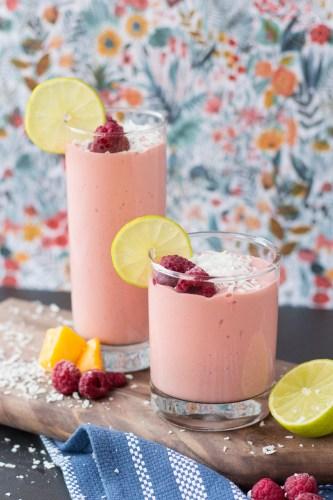 Raspberry Mango Smoothie | Taste and Tipple