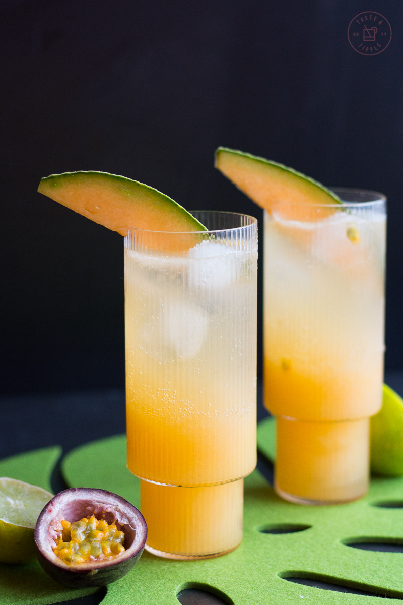 Cantaloupe & Passion Fruit Mimosas | Taste & Tipple