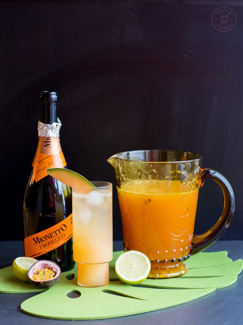 Cantaloupe & Passion Fruit Mimosas | Taste & Tipple