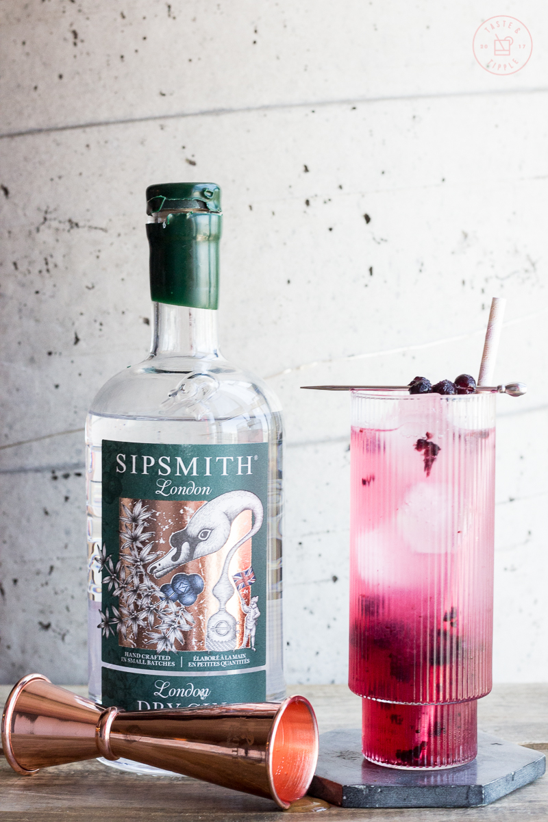Honey Blueberry Collins   Taste and Tipple