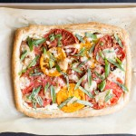 Tomato, Goat Cheese & Caramelized Shallot Tart | Taste and Tipple