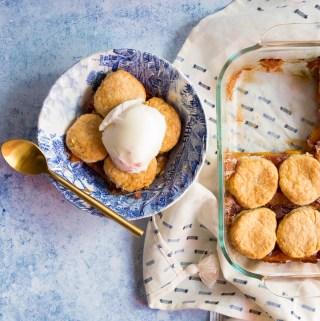 Peach Bourbon Cobbler   Taste and Tipple