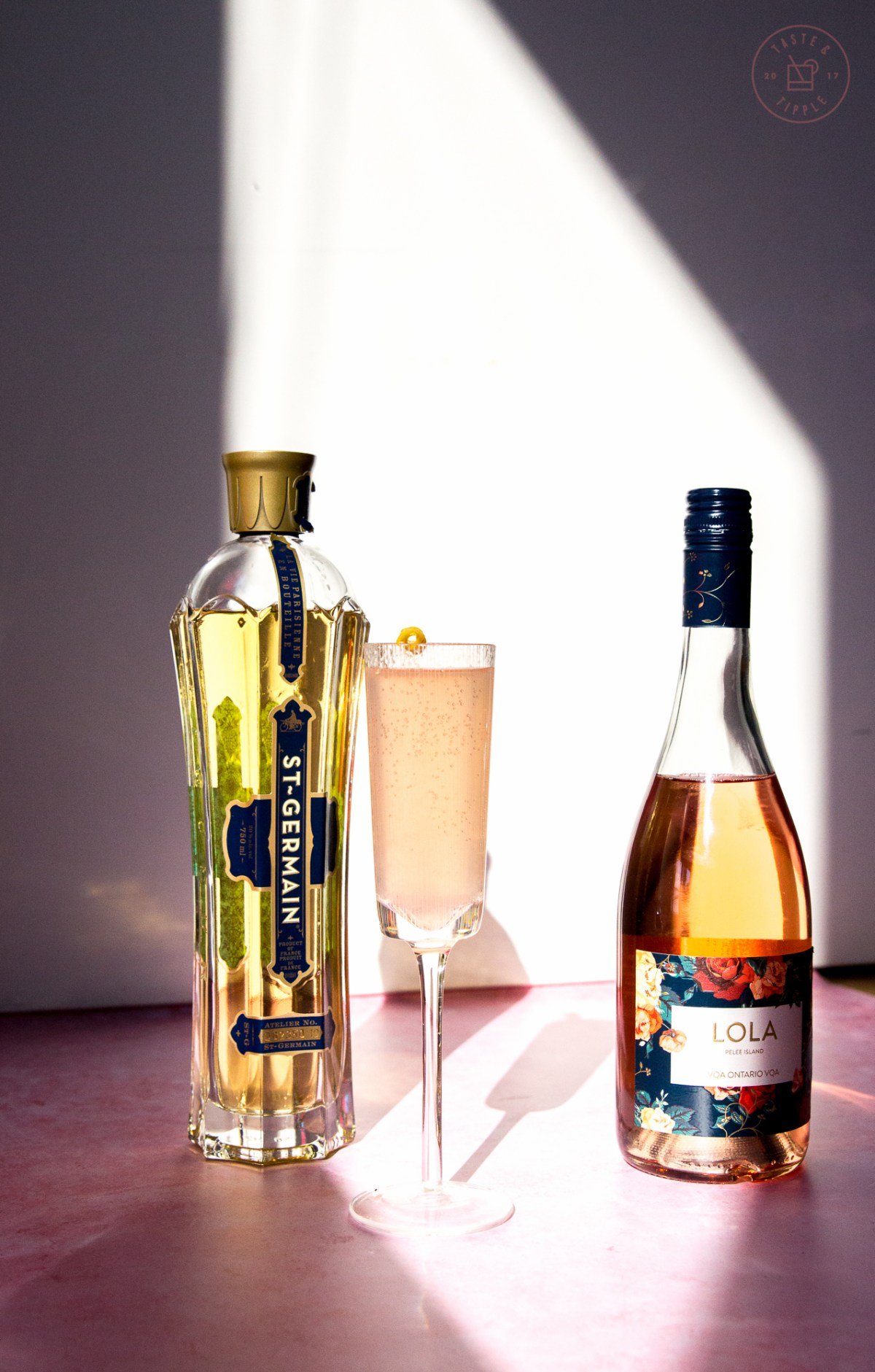 Elderflower Rosé French 75 | Taste and Tipple