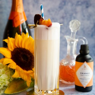 Peaches and Cream (Candy) Corn Fizz | Taste and Tipple