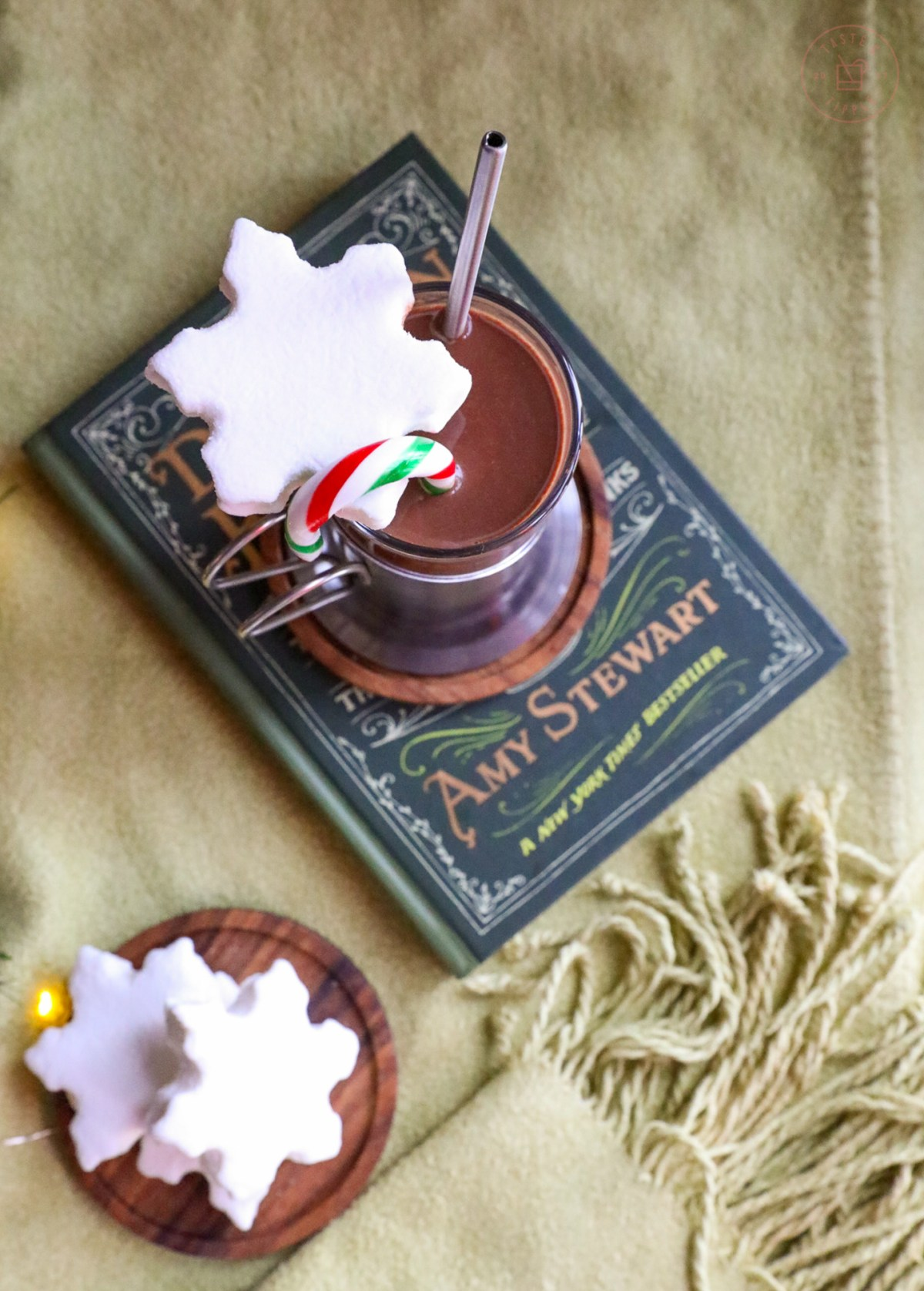 Candy Cane Hot Chocolate | Taste and Tipple