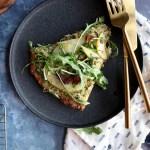 Cauliflower Pizza with Basil Pesto & Potatoes | Taste and Tipple