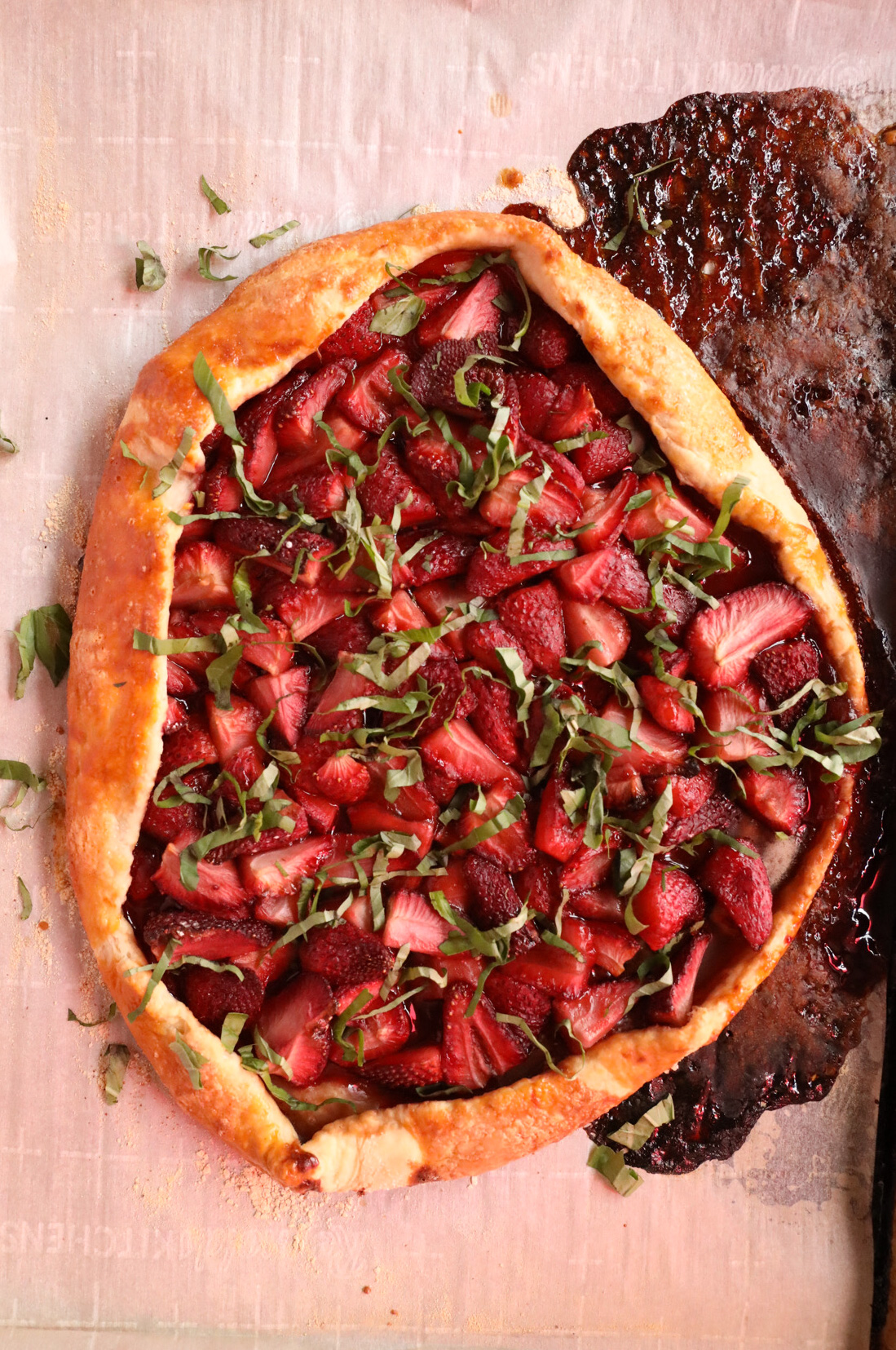 Strawberry Basil Galette | Taste and Tipple