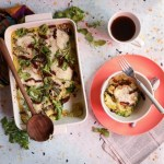 Basil, Sun-dried Tomato & Prosciutto Polenta Breakfast Casserole | Taste and Tipple