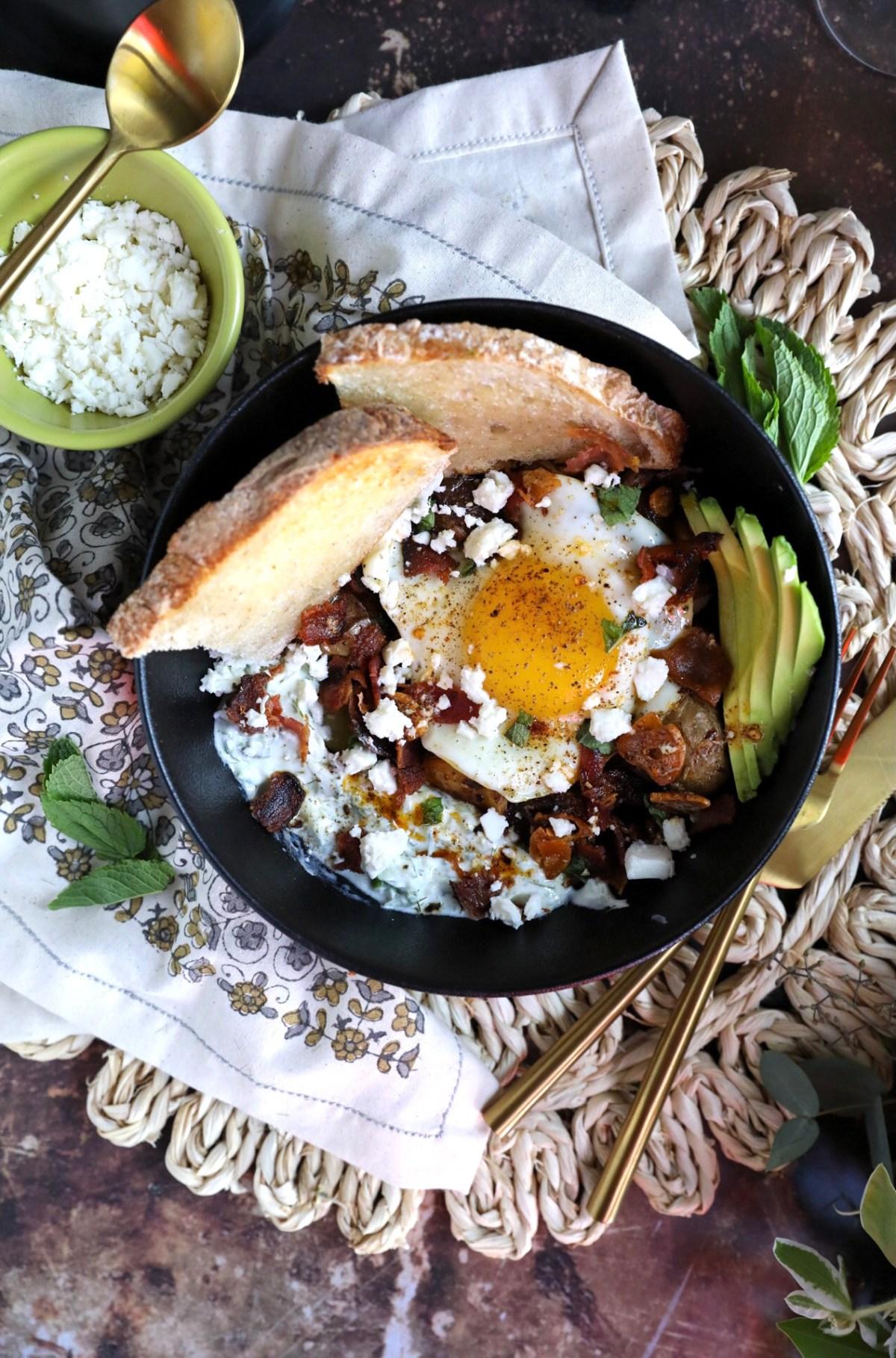 Greek Eggs with Crispy Potatoes   Taste and Tipple