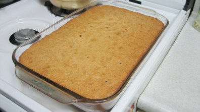 Butterscotch Rum Pound Cake After Baking