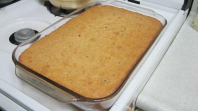 Butterscotch Rum Pound Cake After Baking