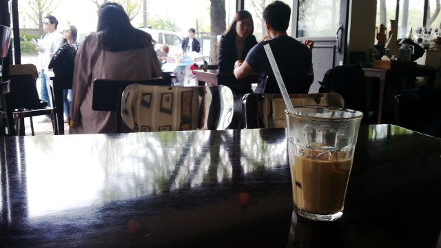 People Watching at Chansbros Coffee