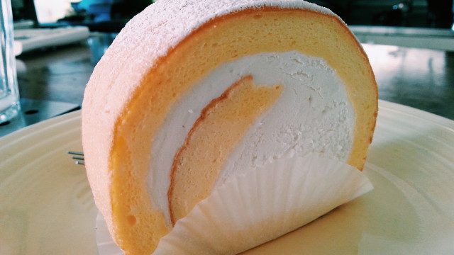 Milk Roll Cake at Chansbros Coffee