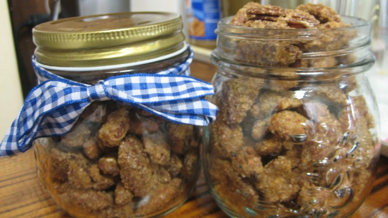 Candied Spiced Nuts Ready to be Gifted