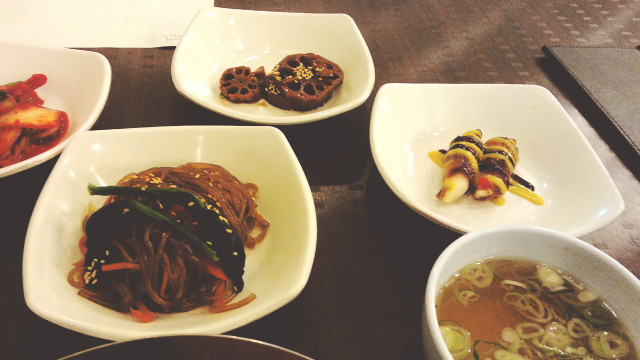 Banchan at Korea Palace