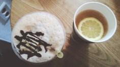 European Latte and Lemon Tea at Magnolia Design Cafe