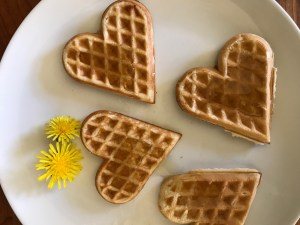Dandelions and waffles