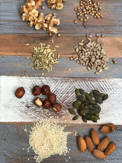 Ingredients for Dukkah