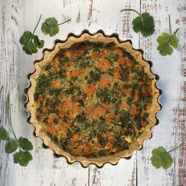 Carrot and Coriander (Cilantro) Tart