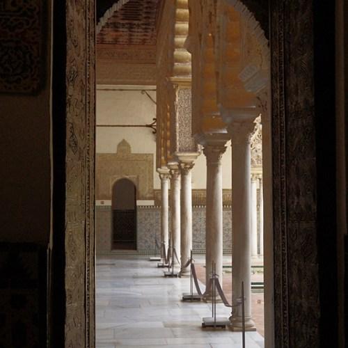 Königspalast Alcazar Sevilla. Tasteboykott.