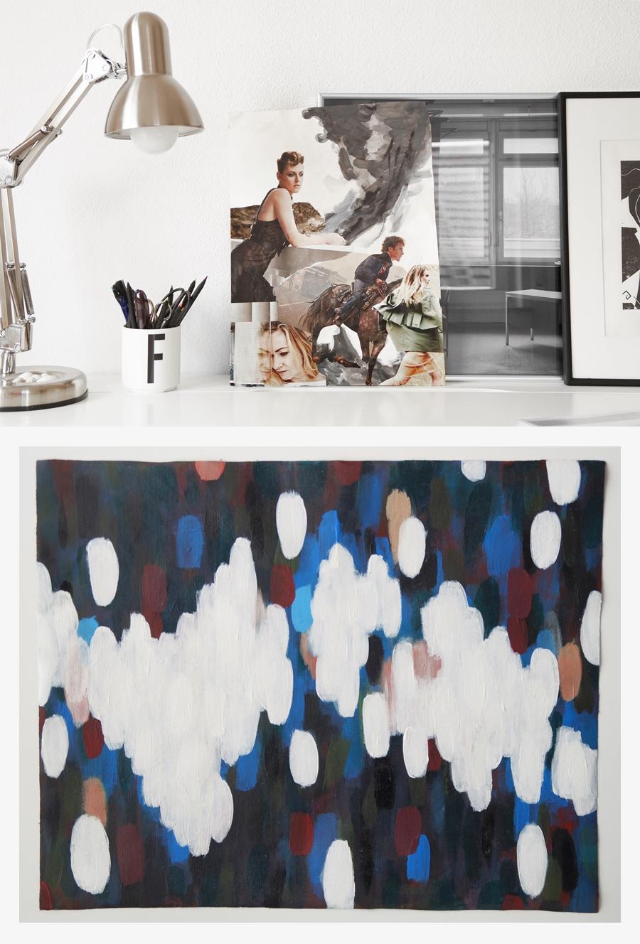 Kunst-Update Collage und abstrakte Malerei