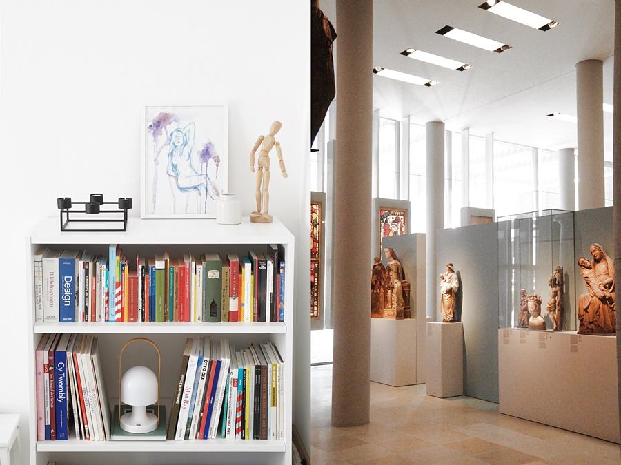 Weißes Bücherregal dekorieren | Germanisches Nationalmuseum Nürnberg.