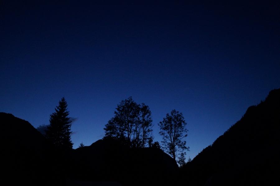 Abendhimmel in den Berchtesgadener Alpen   Outtakes – Monatsrückblick Juli & August 2019