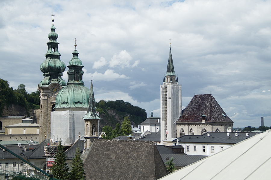 Ausblick von der Festung Hohensalzburg auf Salzburg