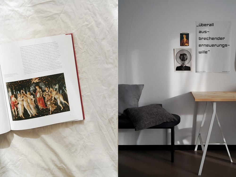 Outtakes – Monatsrückblick März & April 2020   - Primavera von Botticelli und Lichtreflexe am Schreibtisch.