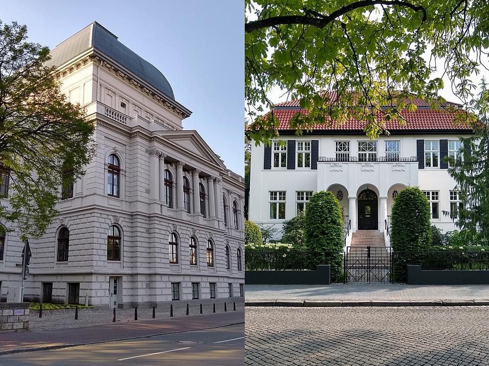 Frühsommer - Mein Wochenende in Bildern   Architektur in Oldenburg: Staatstheater und Dobbenviertel mit Altbauten im Mai.