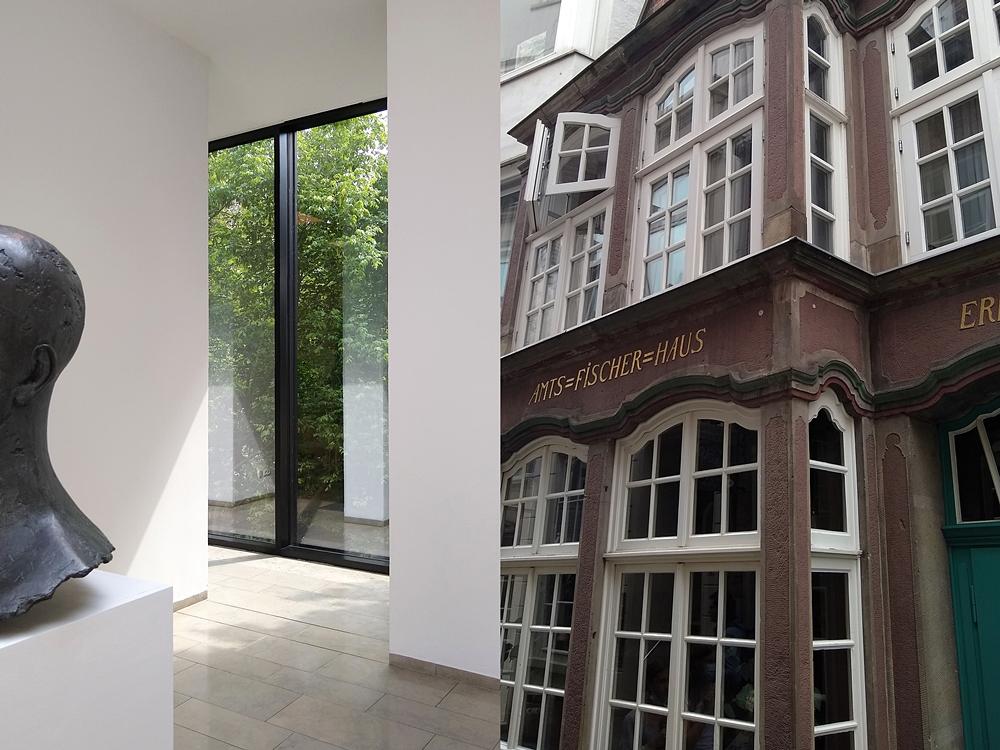 Sommer in Bremen: Gerhard-Marcks-Haus und Schnoor