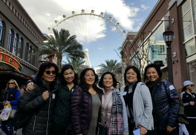 Food Tour Group in Front of The Linq