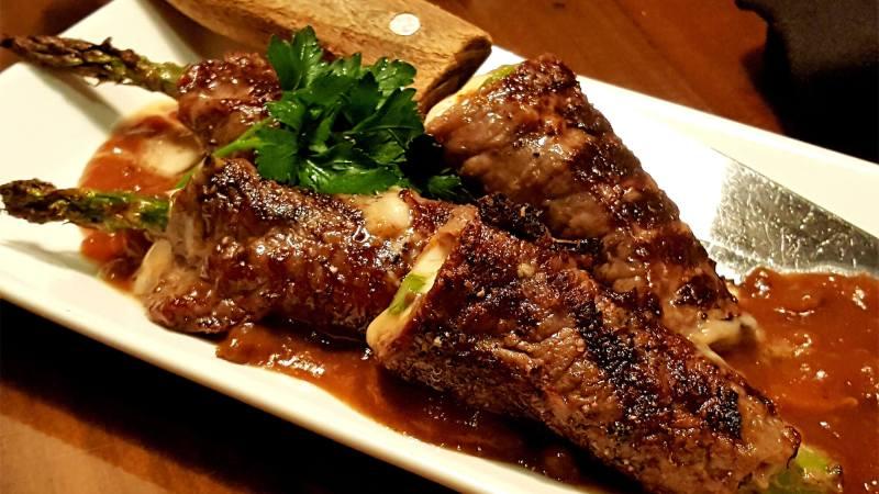 Steak and Asparagus in Las Vegas
