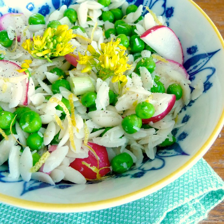 Orzo Salad with Peas, Radishes and Pecorino