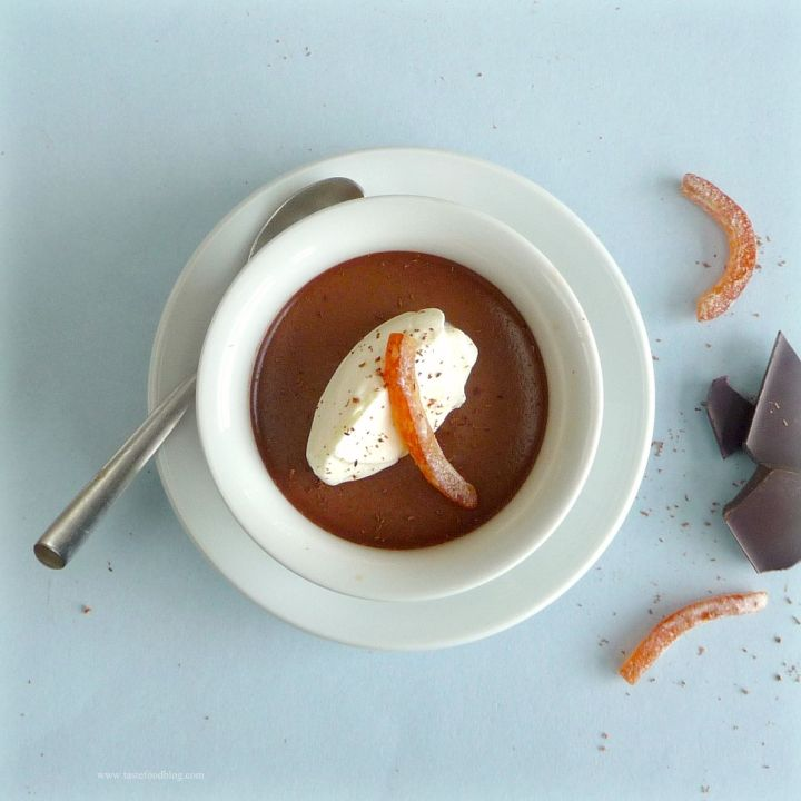 Chocolate Pots de Crème with Gran Marnier
