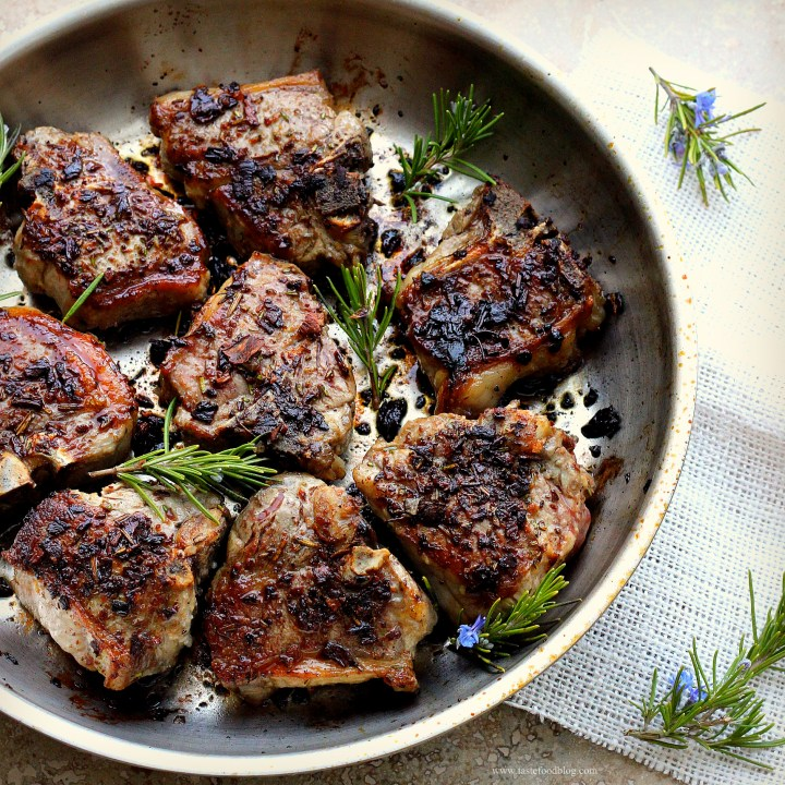 Porcini and Rosemary Crusted Lamb Loin Chops