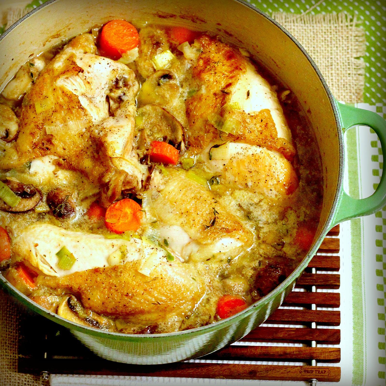 Braised Chicken In White Wine Tastefood