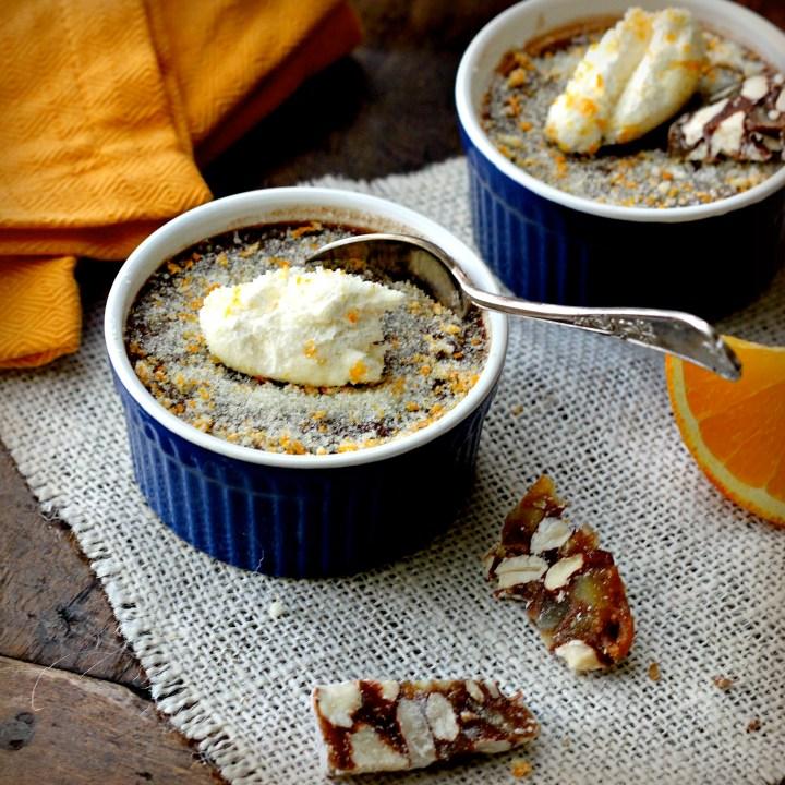 Chocolate Orange Pots de Creme with Fleur de Sel