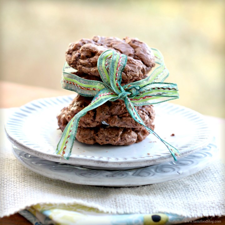 Chunky Chocolate Cookies with Toasted Almonds and Raisins