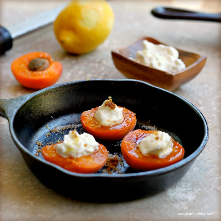 Apricot Brûlée: Roasted and Caramelized Apricots with Greek Yogurt and Lemon