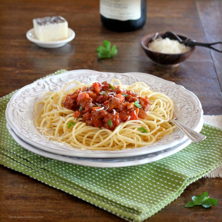 Smothered Meatballs Marinara with Spaghetti