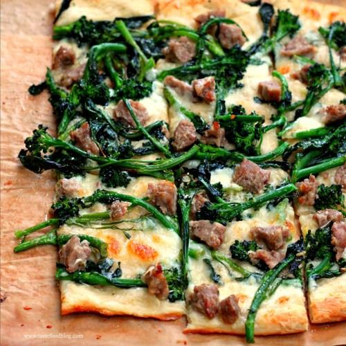 Broccoli Rabe Pizza TasteFood