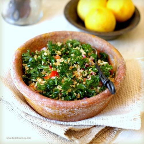 kale tabbouleh tastefood