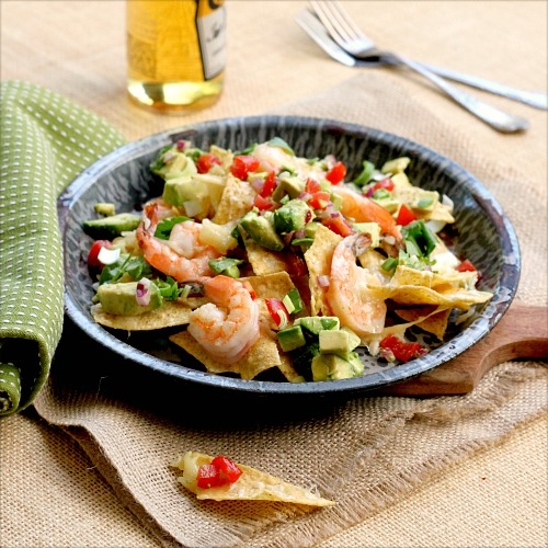 Shrimp Cheese Nachos 1